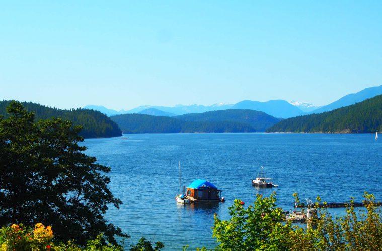 Blick aufs Meer in British Columbia