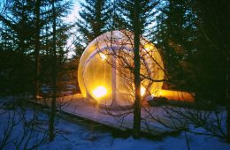 Bubble-Lodge in Island