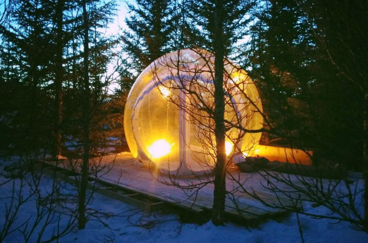 Bubble-Lodge in Island