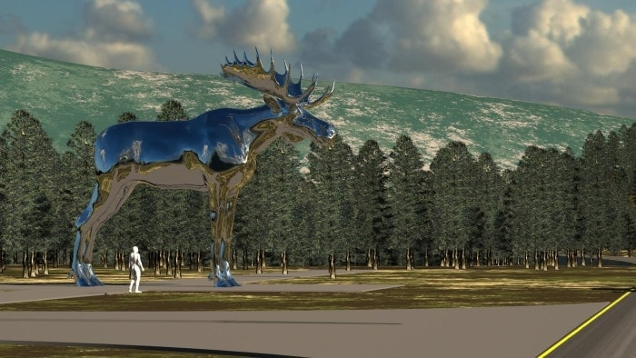 Der größte Elch der Welt - in Norwegen