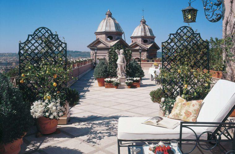 Dachterrasse des Hotel Hassler in Rom