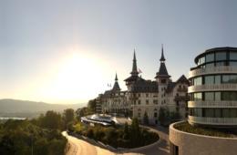 Außenansicht des Dolder Grand Hotel in Zürich