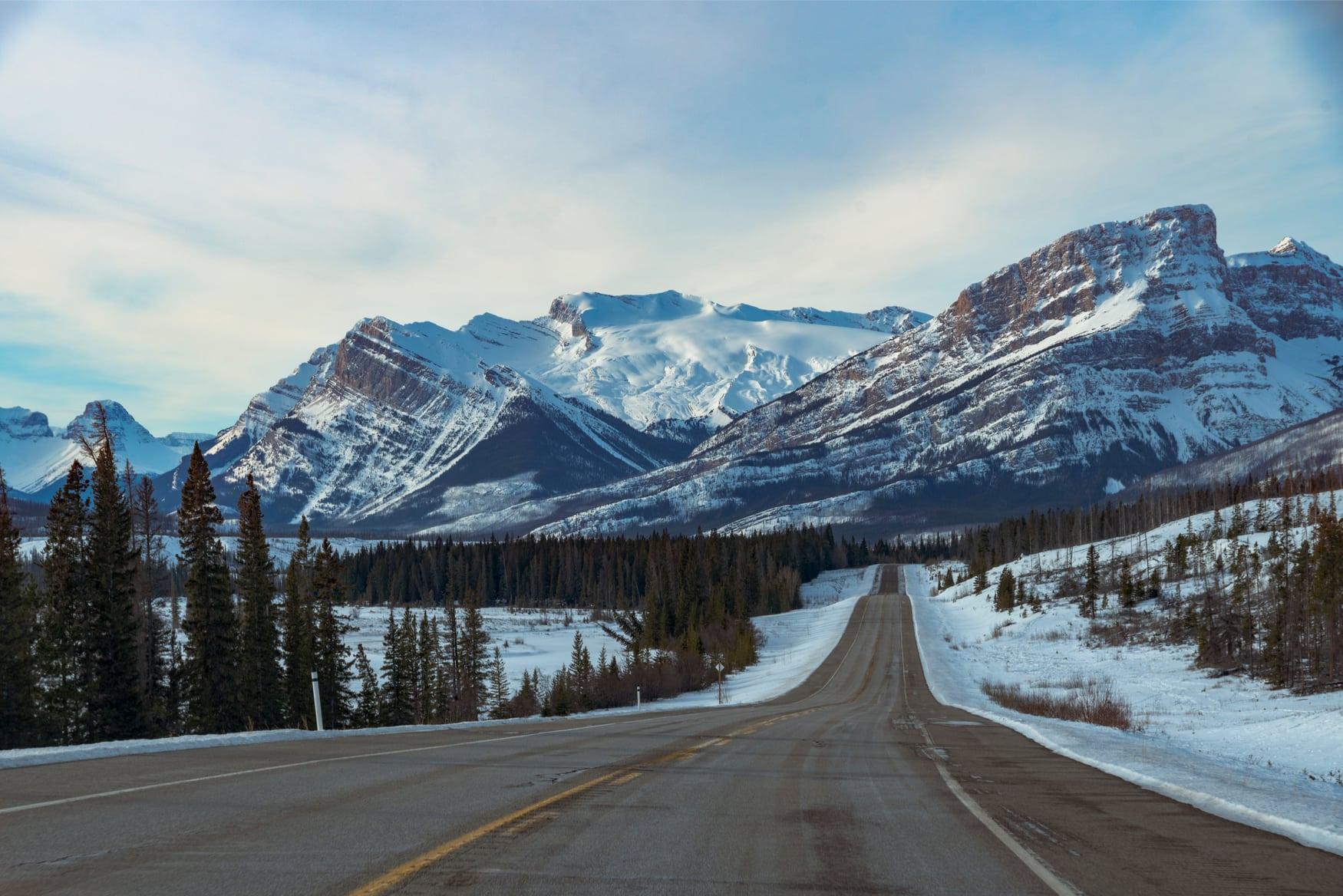 Icefields Parkway Panoramastraße in Alberta