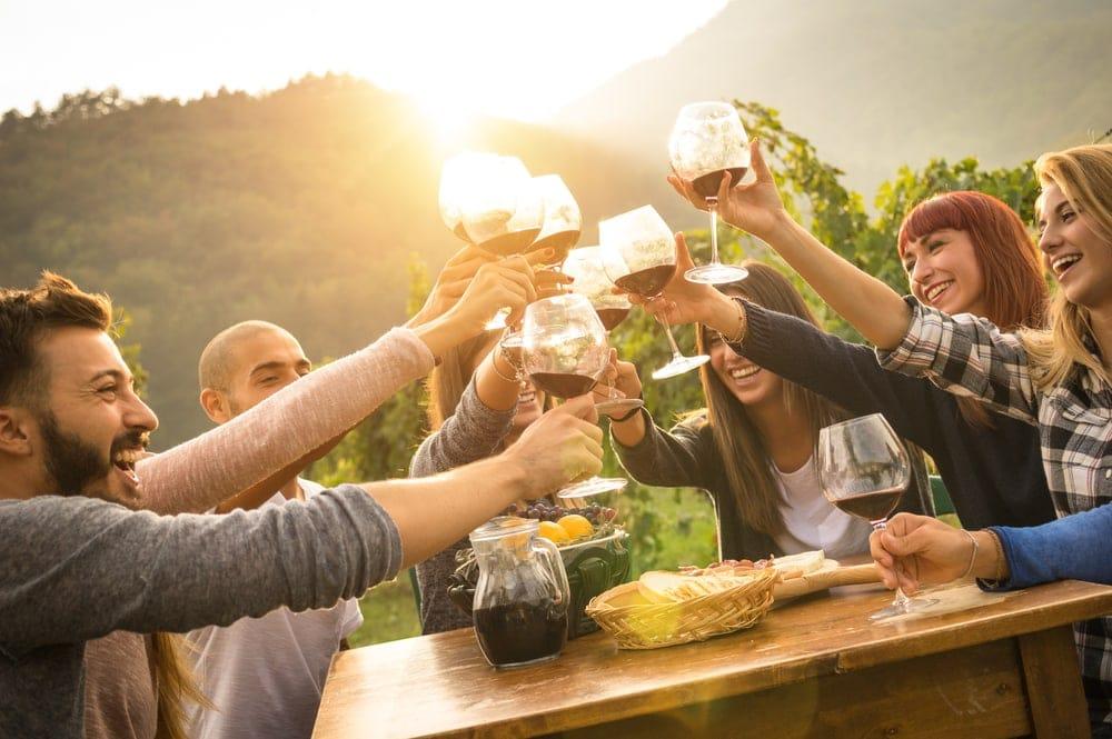 Ein Gläsle mit Freunden kann niemand vewehren, Weinwandern in Baden-Württemberg