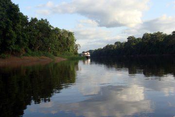 Fluss im Urwald in Peru