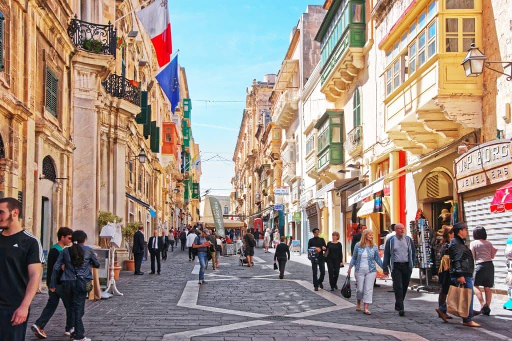 Republic Street auf Malta