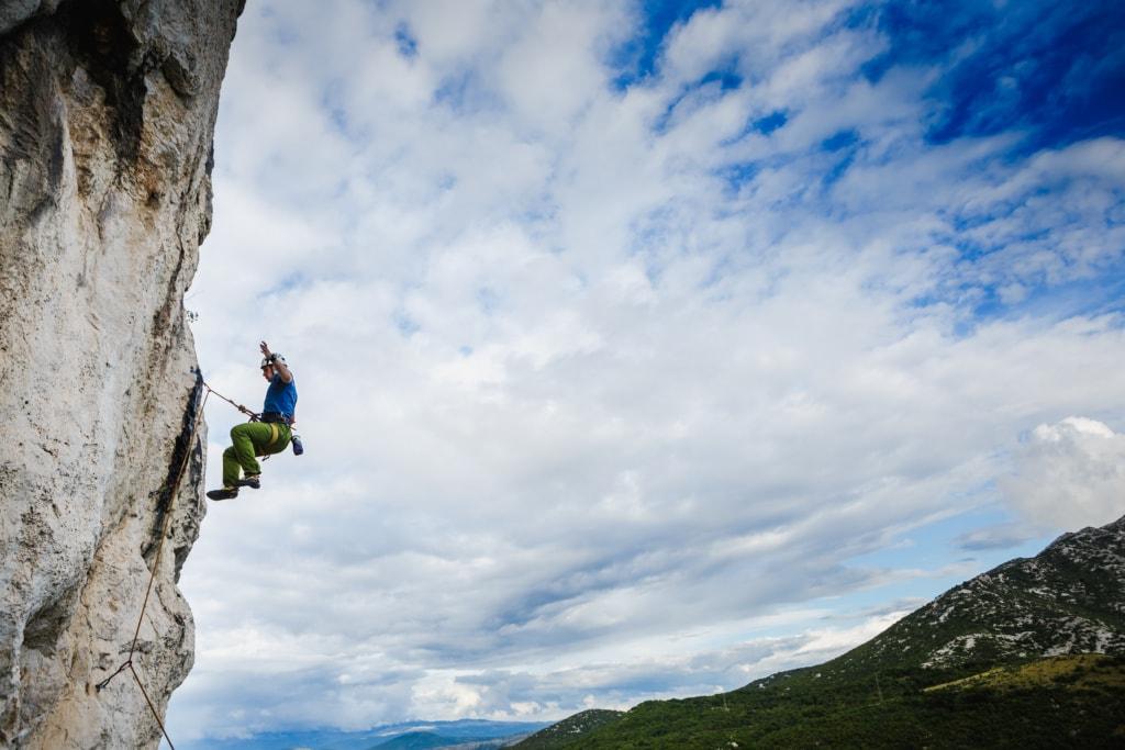 Unterwegs im Landesinneren Istriens: Klettern im Nationalpark