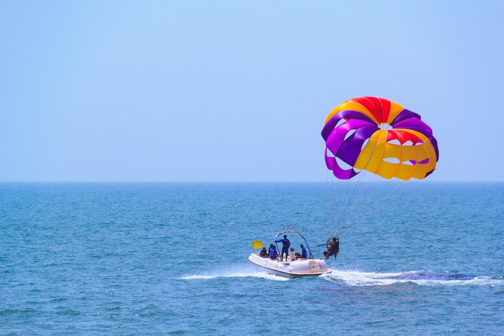 Candolim Beach in Goa, India.