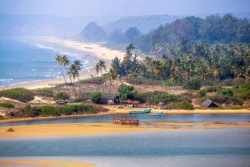 Strand in Goa in Indien