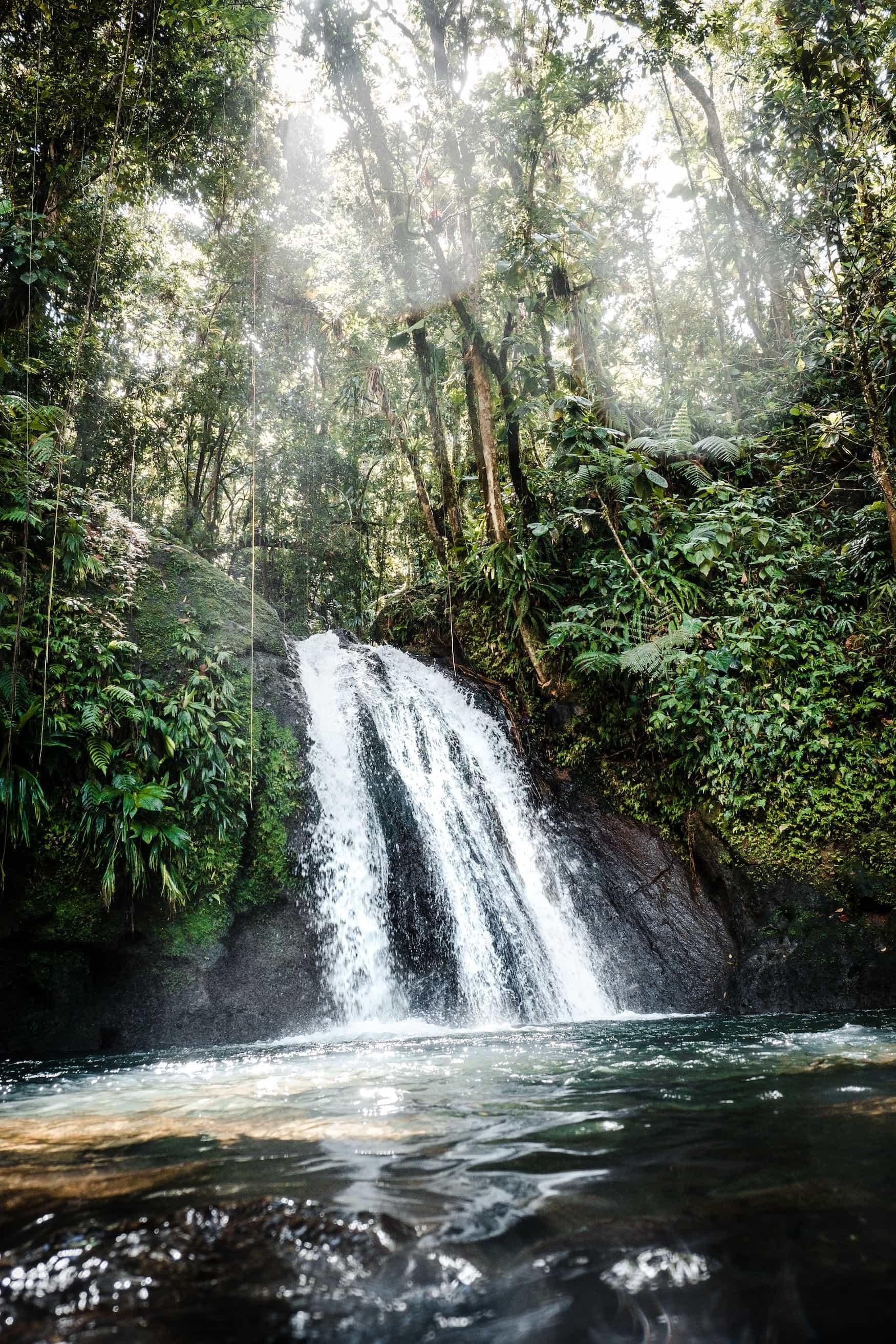 Wasserfall auf Karibikinsel Guadeloupe