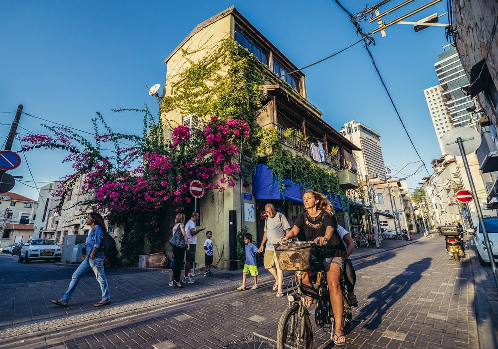 Shalom Shabazi street in historic Neve Tzedek