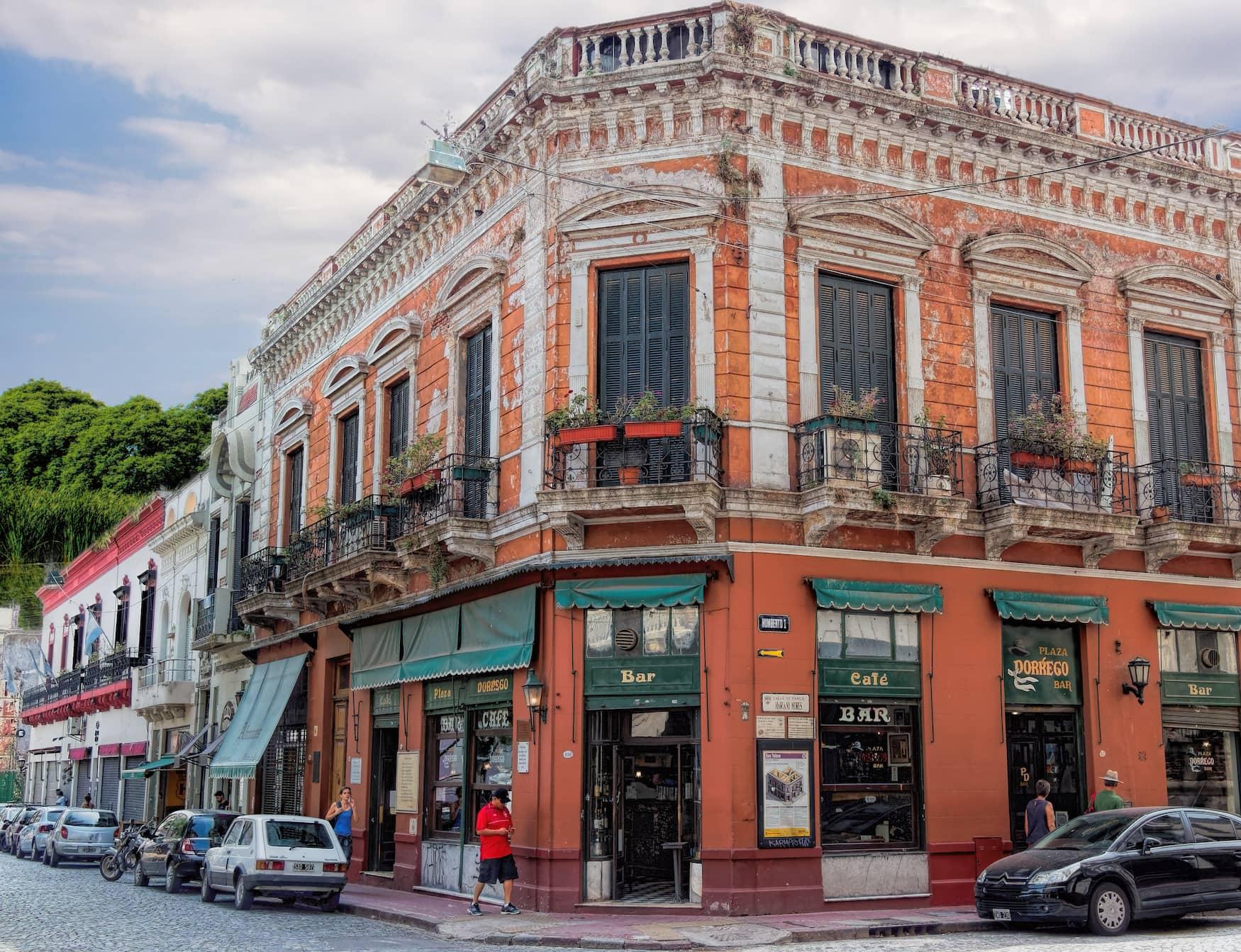 Café in den Straßen von Buenos Aires, Argentinien