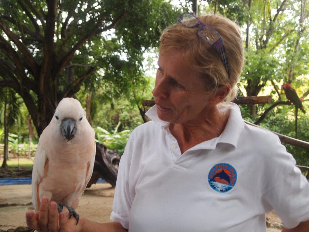 Alma-Eric van der Hooning im Manati Park an der Punta Cana