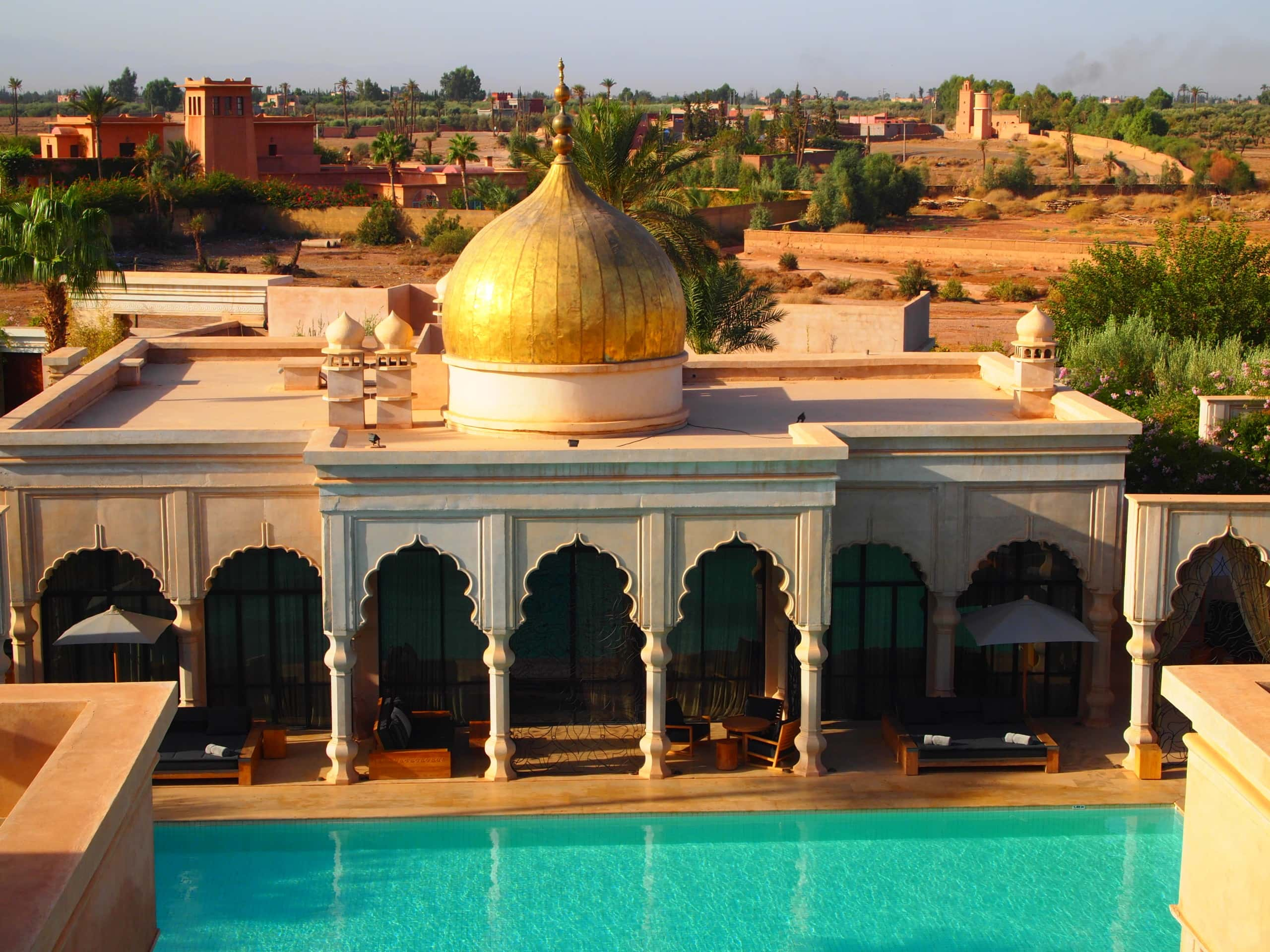 Palais Namaskar in Marrakech mit goldener Kuppel