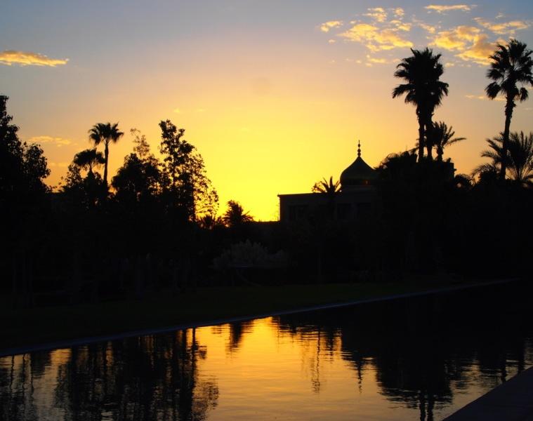 Sonnenuntergang im Palais Namaskar