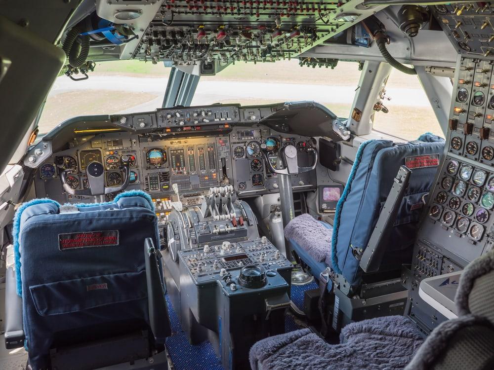 Cockpit einer 747