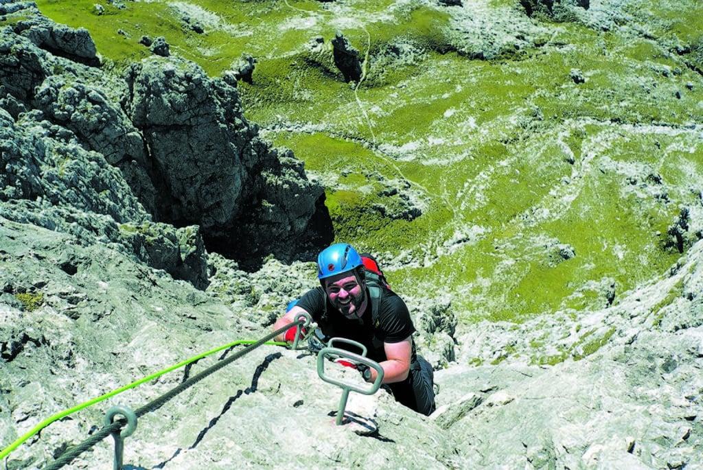 Sebastian Münter beim Klettern in Hochkönig