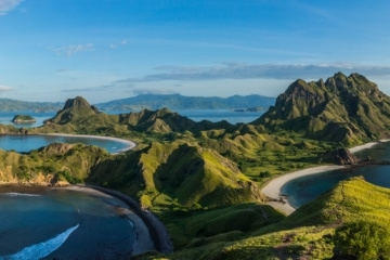 Padar Island in Indonesien
