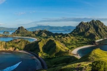 Padar Island in Indonesien