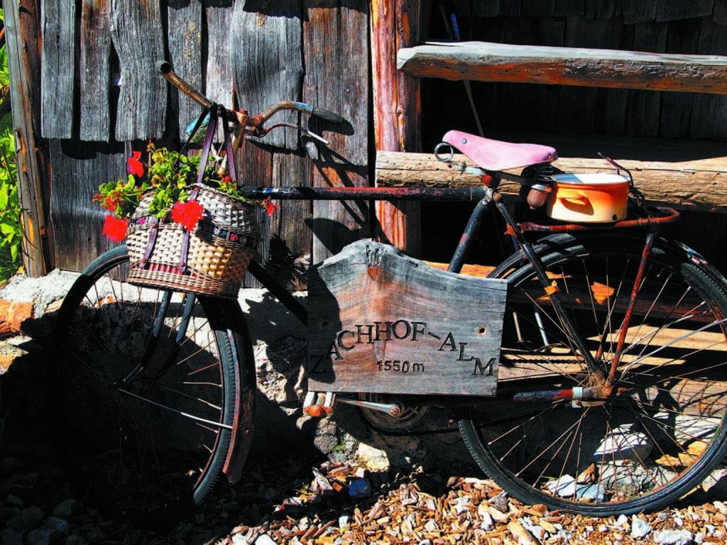 Geschmücktes Fahrrad auf der