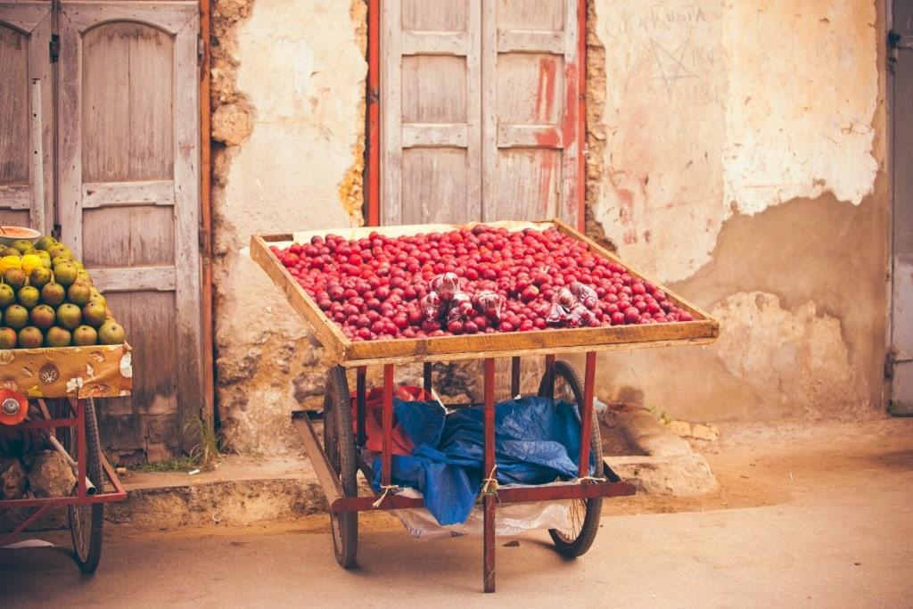 Verkaufsstand in Stone Town in Sansibar