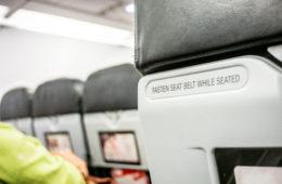 Rückenlehne im Flugzeug