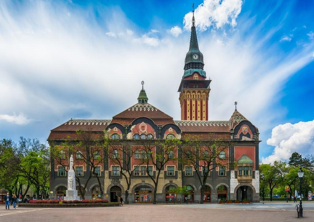 Rathaus von Subotica in Serbien