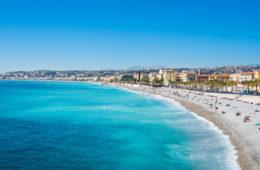Blick auf die Küste der Côte d'Azur