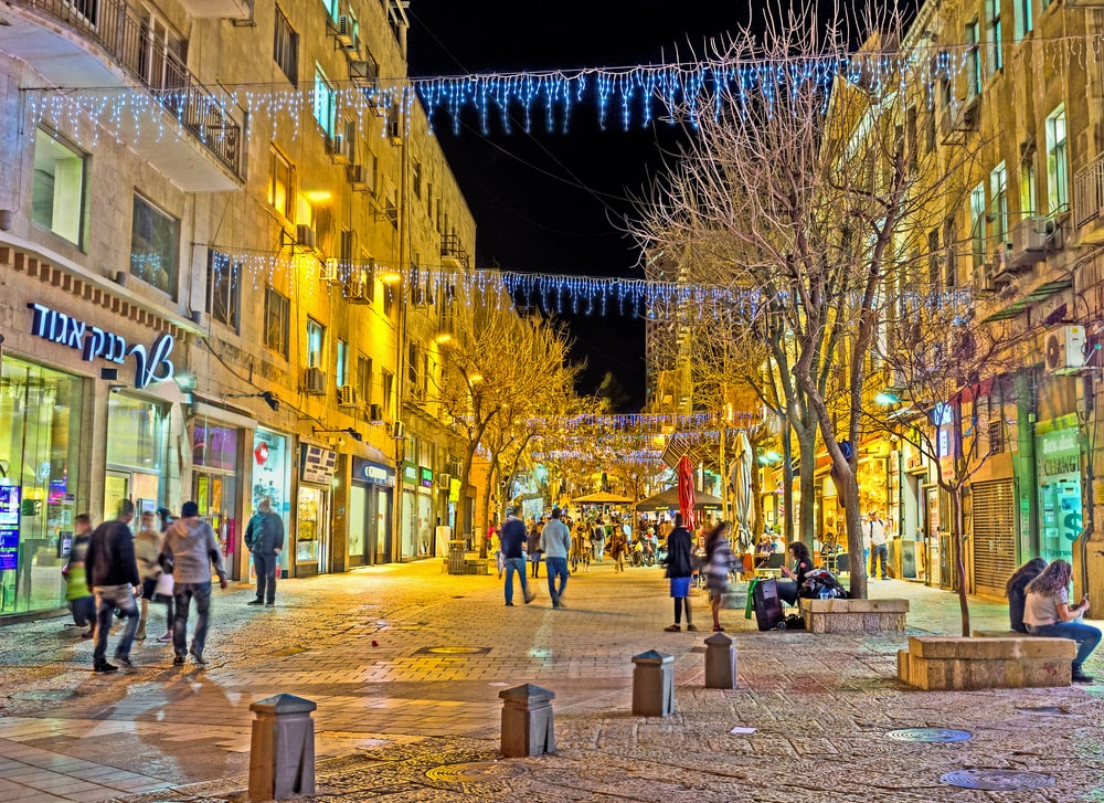 Ben Yehuda Street in Jerusalem