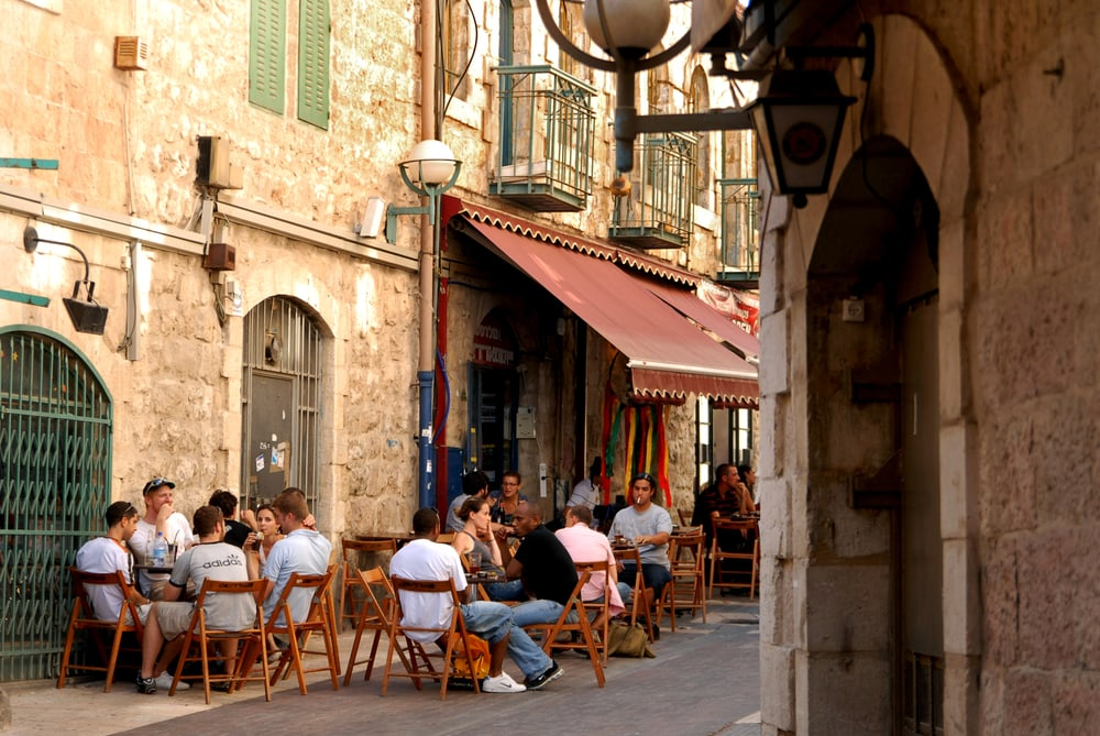 Cafe in Jerusalem