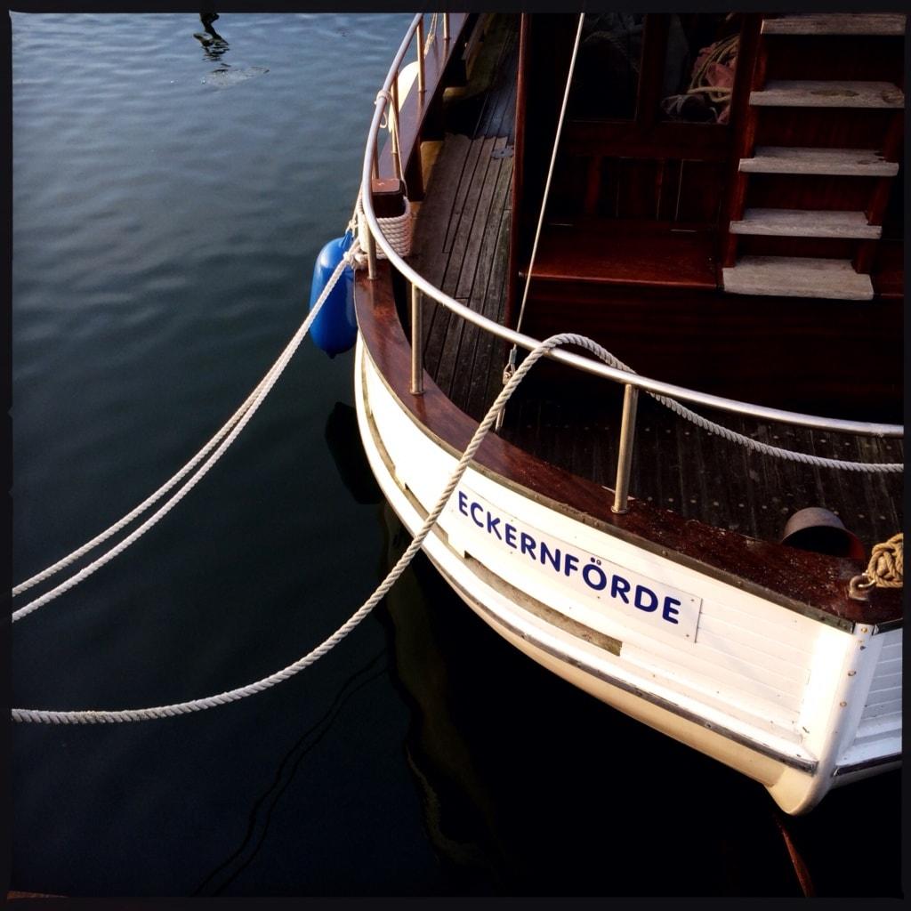 Boot mit der Aufschrift eckernförde