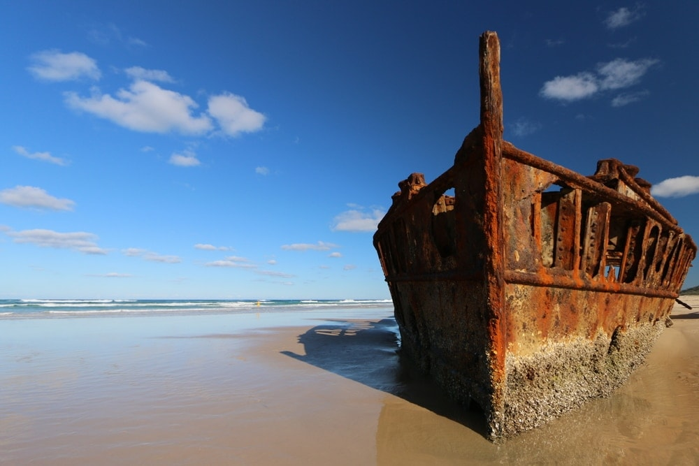 Maheno-Wrack auf Fraser Island