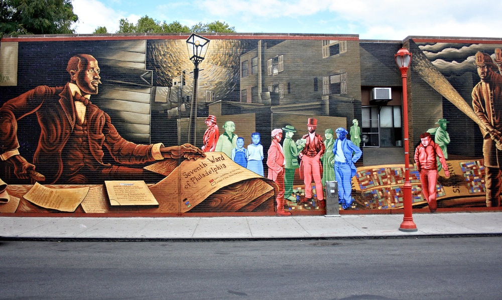 Mural Art auf der South Street in Philadelphia