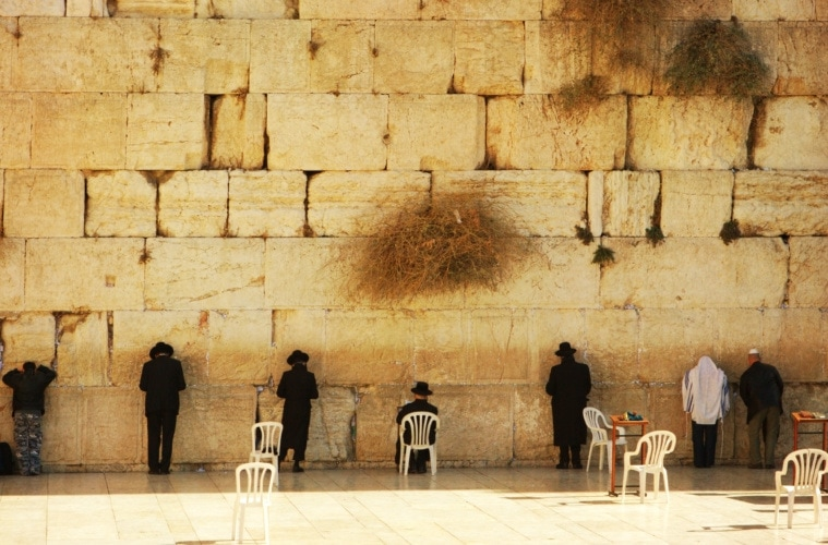 Juden vor der Mauer in Jerusalem