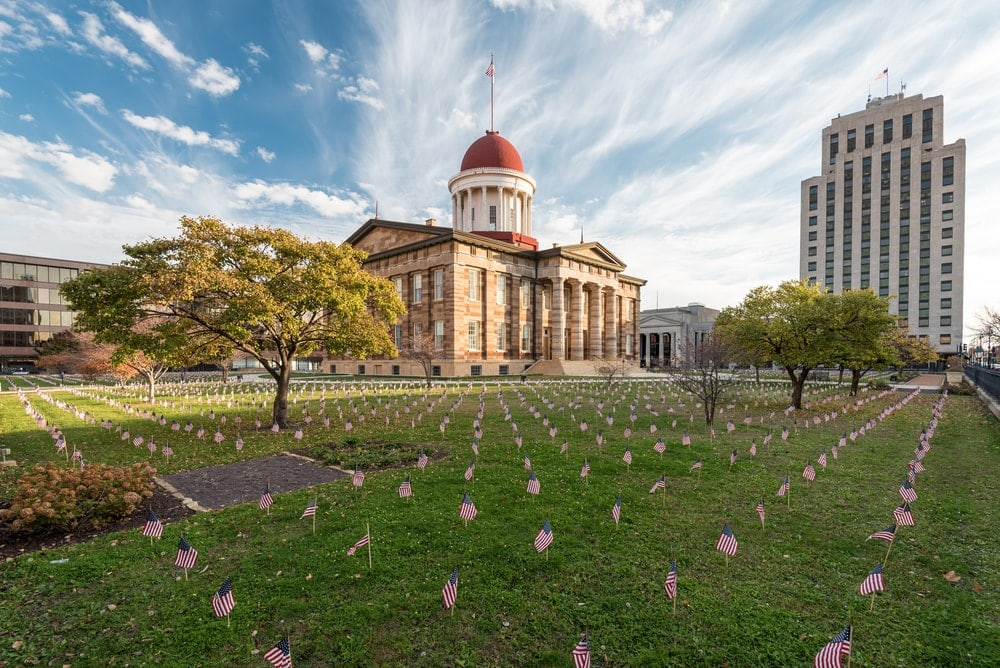 Old State Capitol in Springfield, Illinois