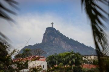 Umrisse der Statue in Rio de Janeiro