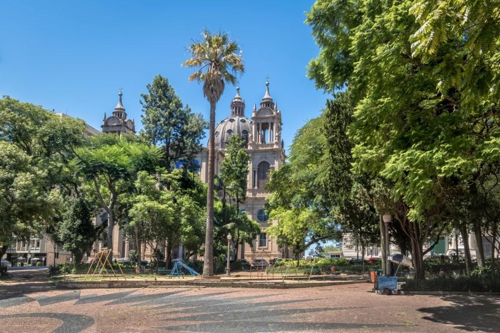 Marechal Deodoro square in Porto Alegre