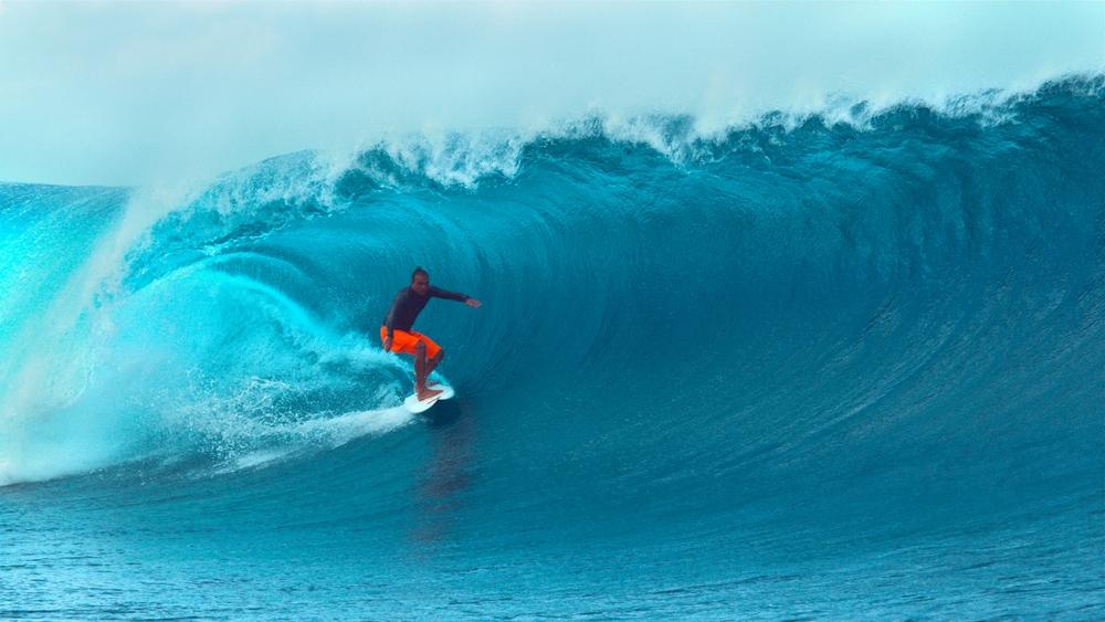 Surfer auf Tahiti