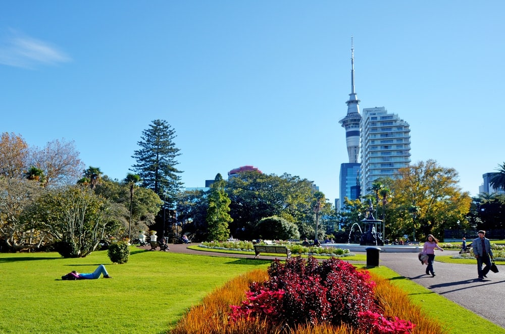 Albert Park in Auckland