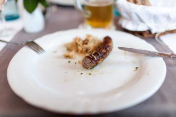Bratwurst essen in Franken