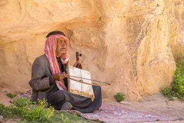 Beduine in Petra, Jordanien