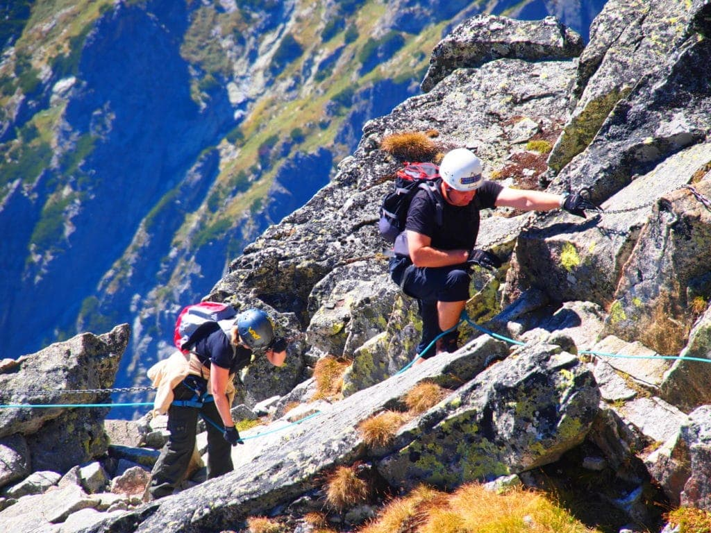 Reise durch die Slowakei: Bergsteiger auf der Lomnitzer Spitze