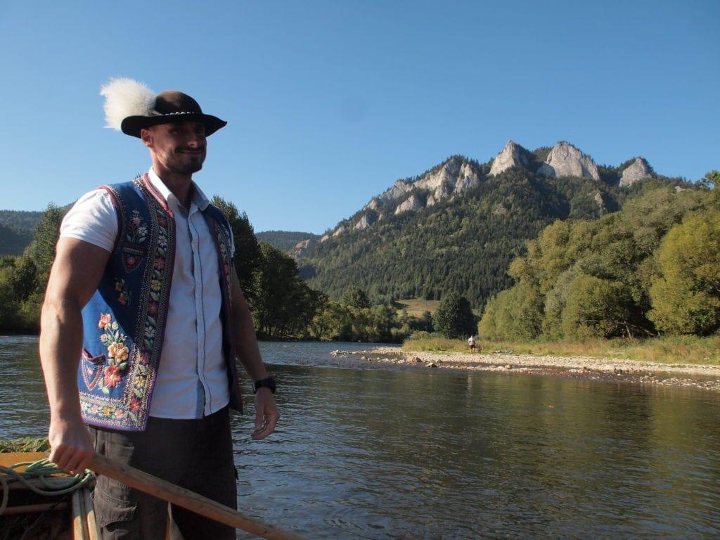 Peter, einer der Flößer auf dem Dunajec in der Slowakei