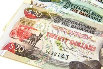 20-Dollar-Geldscheine der Bahamas