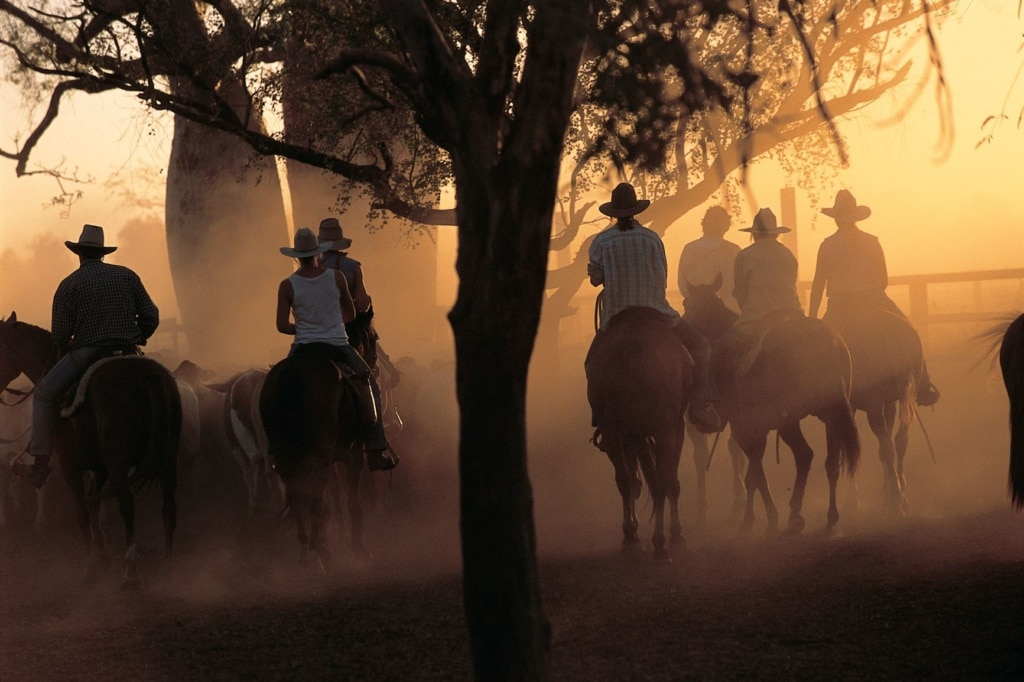 Cowboys in der Kimberley Cattle Station in Australien