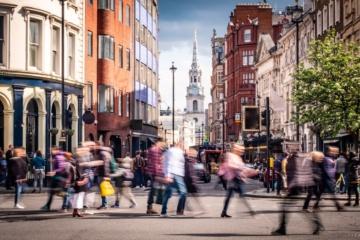 Straßenszene in Covent Garden, London