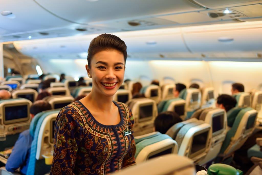 Flugbegleiterin von Singapore Airlines
