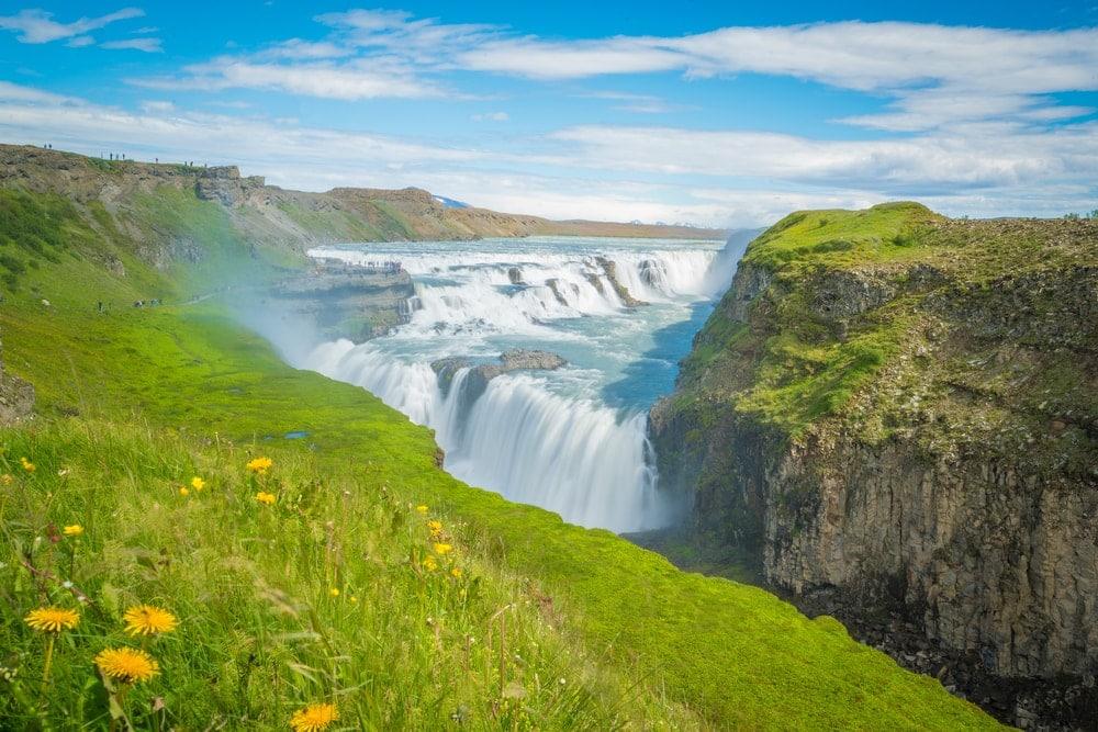 Gullfoss-Wasserfall in Island