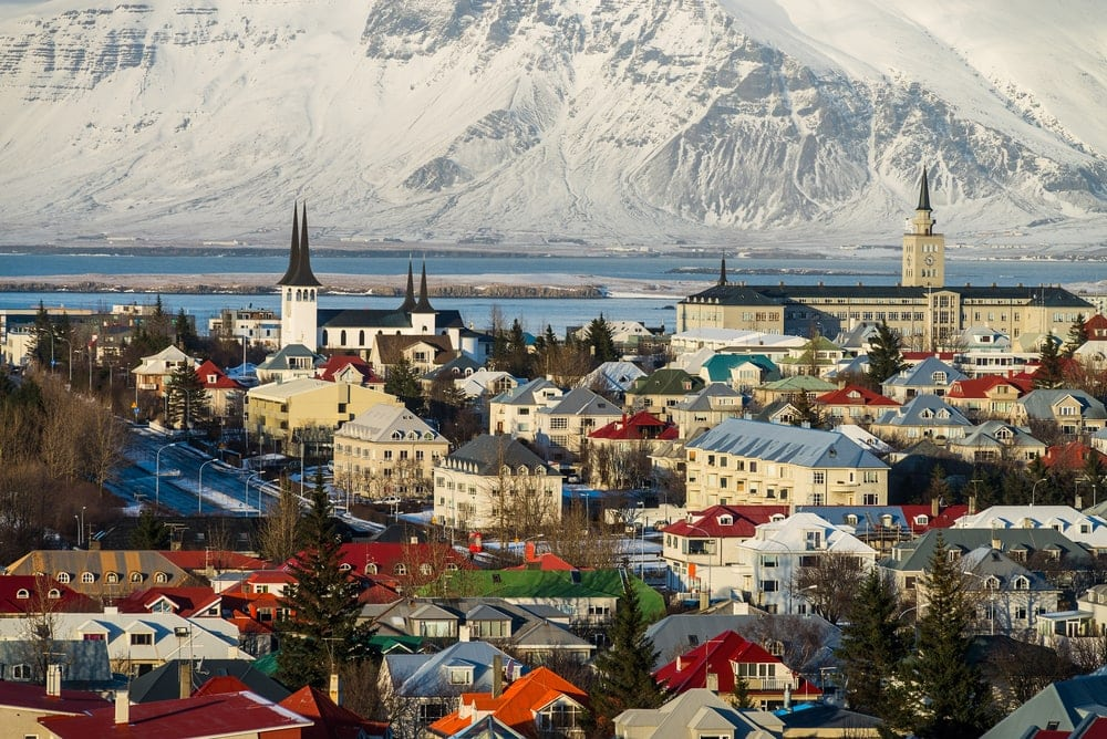 Panorama-Blick auf Reykjavík