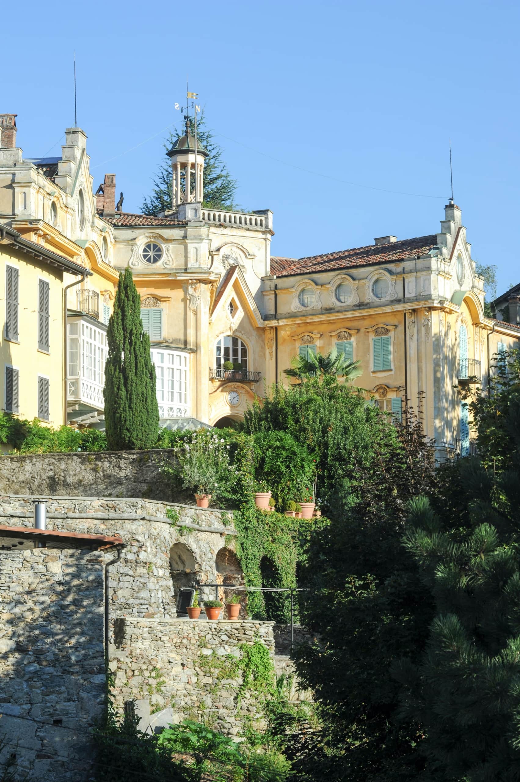 das Haus, in dem der berühmte Schriftsteller Hermann Hesse dreißig Jahre seines Lebens lebte, in Montagnola in der italienischen Schweiz